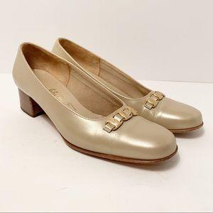 Salvatore Ferragamo Boutique Kitten Heel Loafers